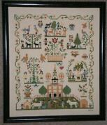 Completed Cross Stitch Sampler