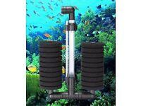 filter air pump for fish tank LARGE aquarium biochemical double sponge filter