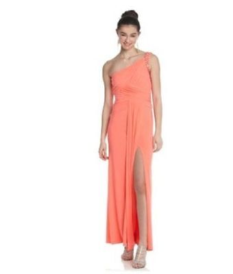 Hailey Logan ~ Flamingo Pink Ruched Cut-Out Back Formal Gown 5/6 NEW $199 Flamingo Cut Out