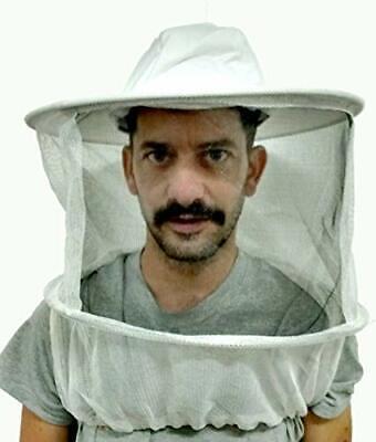 Primeonly27 Beekeeper Veil White Hat Round Top Welastic Under Arm Straps