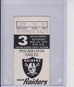 Oakland Raiders Ticket Stubs