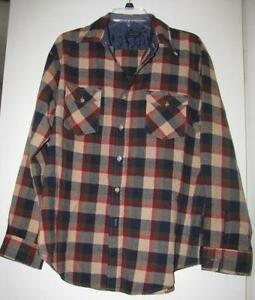 Mens shirts xl ebay for Mens xl flannel shirts