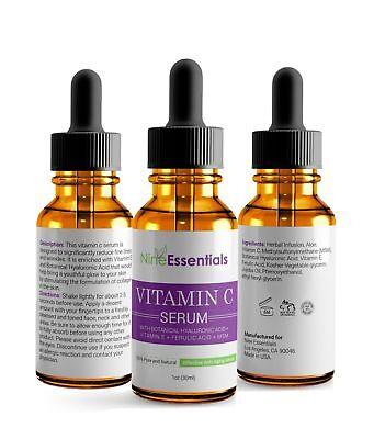 Pure Vitamin C Hyaluronic Acid Whithening Collagen 24k Anti-Wrinkle Serum Face