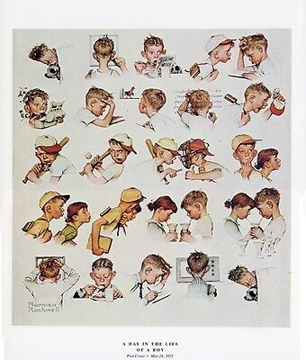 Norman Rockwell Youth Print A DAY IN THE LIFE OF A