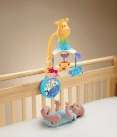 Fisher Price Discover n Grow 2-in-1 Musical Wind - up Baby Cot / Pram Mobile