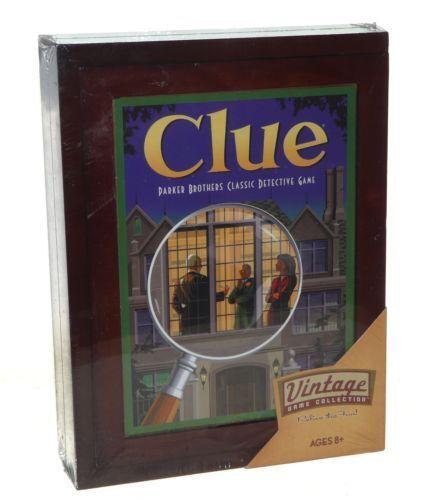 Clue Vintage Board Game Bookshelf Edition BRAND NEW SEALED