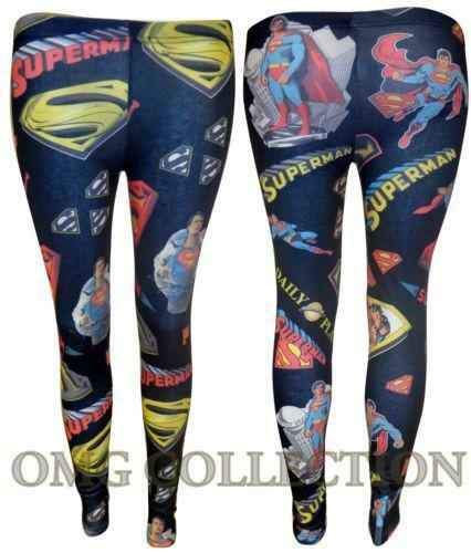 Womens New Ladies Comic Superman Batman Skull Boom Leggings Pants Size / | Clothing, Shoes & Accessories, Women's Clothing, Leggings | eBay!