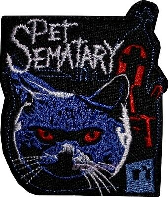 Pet Sematary Embroidered Patch Horror Movie Cat Stephen King Creed Ramones