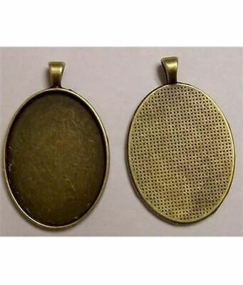 40x30mm Antique Bronze Cameo Pendant Setting with Bail 632x