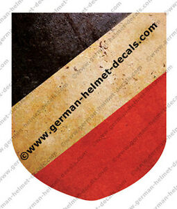 Pre-aged-WW-II-German-helmet-decal-National-shield-Tri-color-for-M35-M40-M42