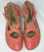 Ladies Red Leather Shoes