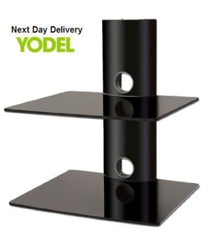 wall mounted glass shelves ebay. Black Bedroom Furniture Sets. Home Design Ideas