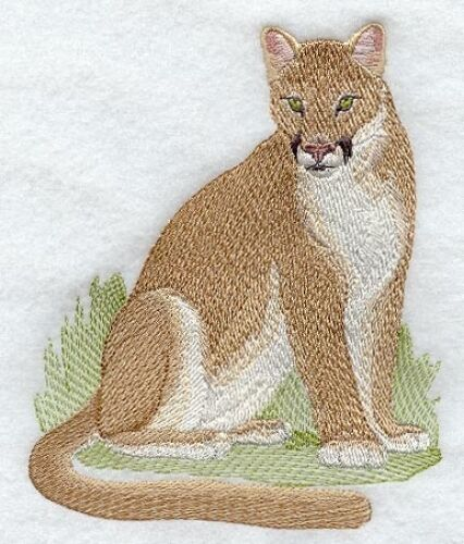 Embroidered Sweatshirt - Cougar Mountain Lion M2125