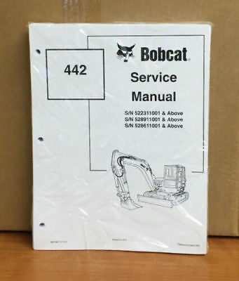 Bobcat 442 Compact Excavator Service Manual Shop Repair Book Pn 6901801