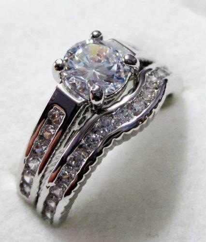 diamonique wedding sets ebay - Diamonique Wedding Rings