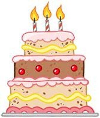 30 Custom Birthday Cake Personalized Address Labels