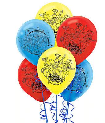 Girls In Latex (DC SUPER HERO GIRLS Birthday Party Supplies LATEX BALLOONS 6 helium quality)