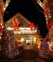 CHRISTMAS LIGHTS HUNG ON YOUR HOME