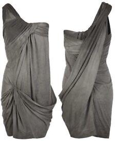 All Saints Tilia Dress in Bitter Black Spray
