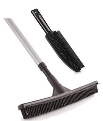 Artificial Lawn Brush Set Broom Garden Rubber Bristle Head Fake Grass Astro Turf
