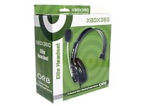 Brand New in Box ORB Elite Headset - Black (Xbox 360)