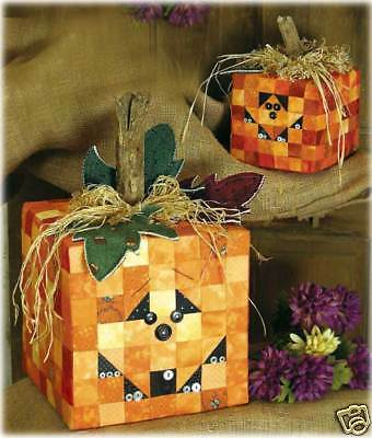 Chunky Jacks Happy Hollow Designs pattern Fall/Halloween Pumpkins Quilting