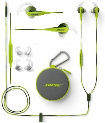 Genuine Bose SoundSport In-Ear Earphones Headset For Apple Devices Energy Green ()