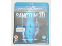 DVD 3D FILM MOVIE BLURAY SANCTUM 3D BLU-RAY & DIGITAL COPY JAMES CAMERON 2011.⭐️