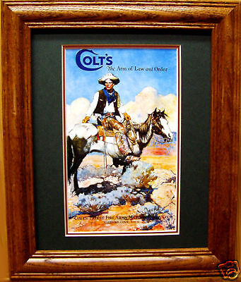 Colt .45 Cowboy & Horse Old Ad Poster Western Art Paint Horse Mustang size 8x10