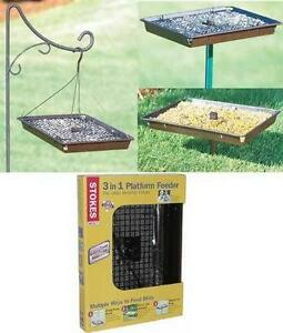 platform bird feeders