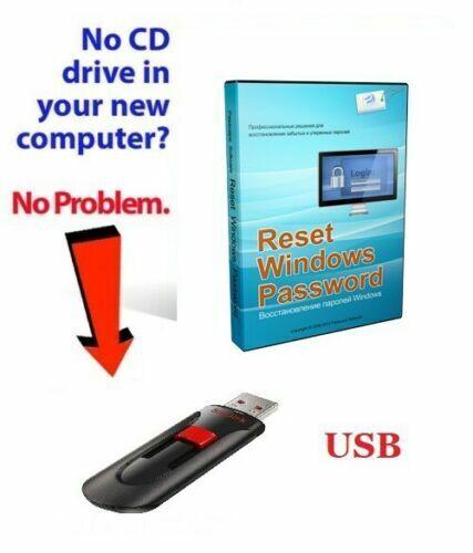 Windows Password Recovery Reset & bypass USB Windows XP, VISTA, 7, 8 10 PASSCAPE