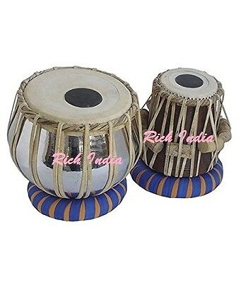 TABLA DRUMS SET~PROFESSIONAL 2.5 KG BRASS BAYAN~SHESHAM WOOD DAYAN~PRC EHS