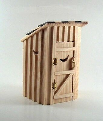 1:12 Scale Dollhouse Miniature Wooden Outhouse #D2502