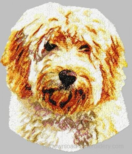 Large Embroidered Zippered Tote - Labradoodle DLE1606