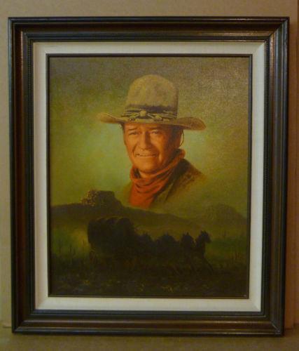 John wayne oil painting ebay for John s painting
