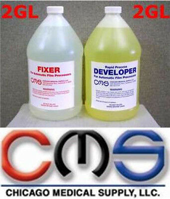 Cms X-ray Automatic Film Processing Developer Fixer Combo Pack 2gl Each 4gl