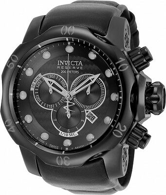 New Mens Invicta 20226 Reserve Venom Swiss Made Chronograph Leather Strap Watch