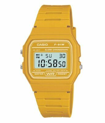 Casio Men's Yellow Digital Watch with Resin Strap F-91WC-9AEF