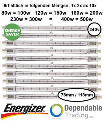 200w Halogen-flutlicht (Energizer Energiesparende R7s Wolfram Halogen Flutlicht 100W 150W 200W 300W 500W)