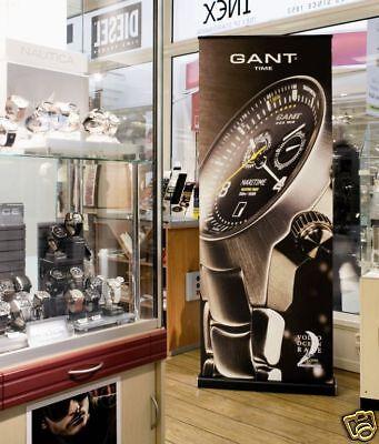 EXPAND M2 schwarzes Design Rollup 100cm mit Grafik - hochwertige Markenqualität