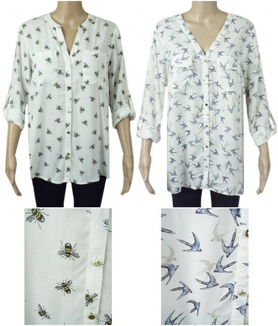 Ladies new ex george navy floral  blouse size 22