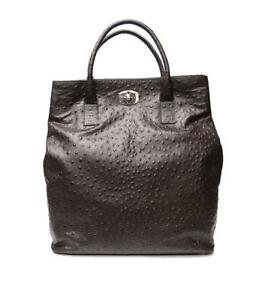 f694b737dca9 Ostrich Embossed Leather Handbags