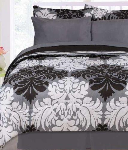 Black And White Full Comforter Set Ebay
