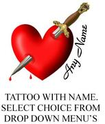 Personalised Temporary Tattoo