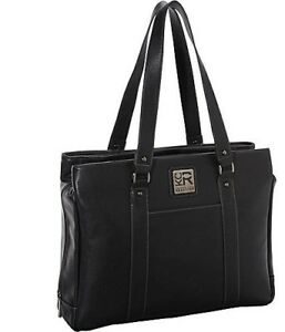Womans Black Leather Laptop Bag by Kenneth Cole