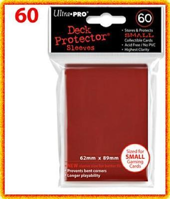 60 Ultra Pro DECK PROTECTOR Card Sleeves Red Yu-Gi-Oh Vanguard Card Protectors