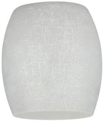 Westinghouse 8100300 - 2-1/4-Inch Handblown White Linen Barrel Shade