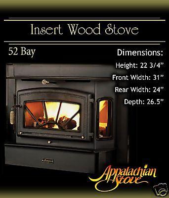Appalachian 52 Bay INSERT Wood Stove Fireplace TRIM KIT