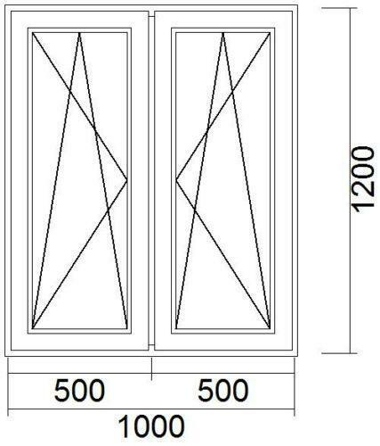 kunststoff fenster 1000x1200 ebay. Black Bedroom Furniture Sets. Home Design Ideas