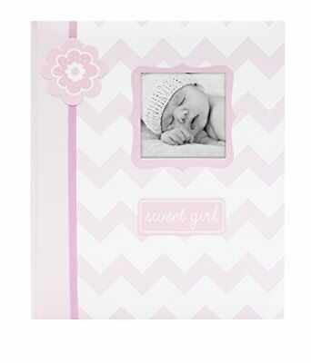 Baby Girl Girls First Year Memory Photo Book Pink Cover Shower Party Parent Gift ()
